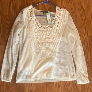 White, sheer, Stitch fix top. Never been worn